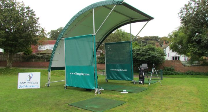 Keith Williams portable RangeBay at Hawkstone Park